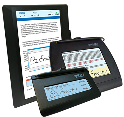 Topaz Electronic Signature Pads and Software